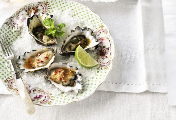 Weight watchers' Thai oyster duo