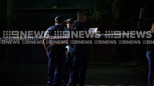 Police have secured the scene and are hunting for two suspects - a man and a woman. Picture: 9NEWS