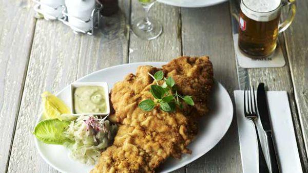 Munich Brauhaus chicken schnitzel