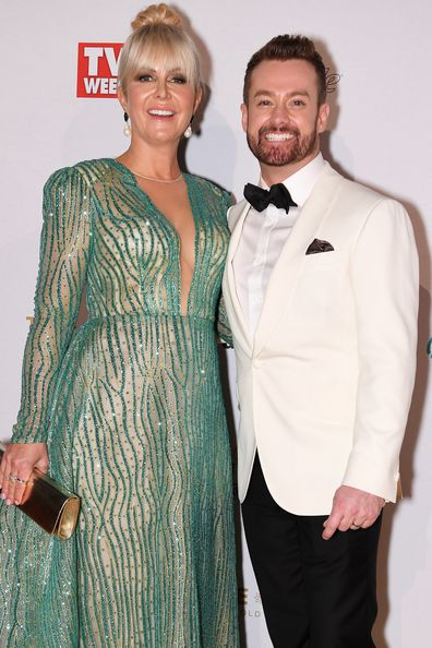 Grant Denyer and wife Cheryl Denyer arrive at the 2019 TV Week Logie Awards at The Star Casino on the Gold Coast