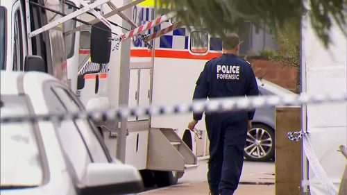 The house and convenience store will be examined in what could take days due to the complexity of the crime scene. Picture: 9NEWS