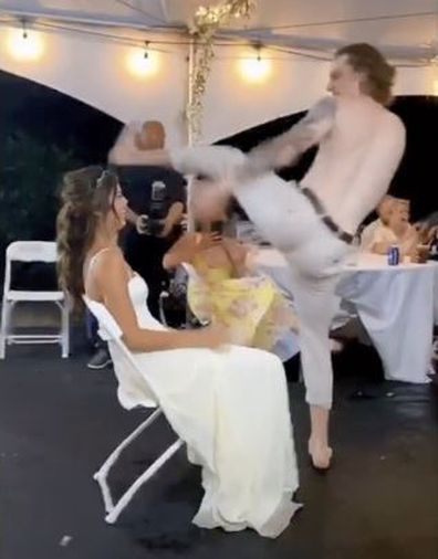 Groom's lap dance goes horribly wrong