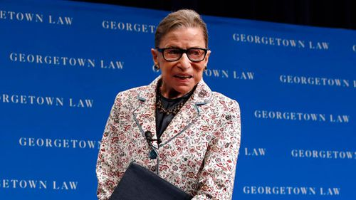 Ginsburg has had a series of health problems. She broke two ribs in a fall in 2012. She has had two prior bouts with cancer and had a stent implanted to open a blocked artery in 2014.