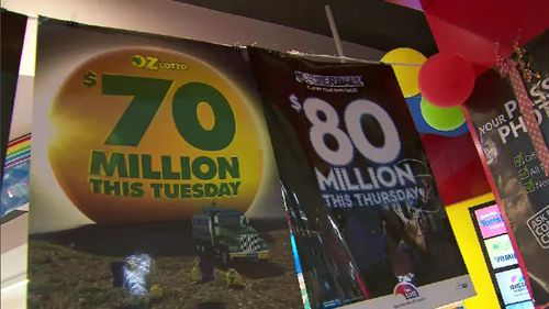 The search is on for the second dual winner of the $70-million-dollar Oz Lotto jackpot. Picture: 9NEWS.