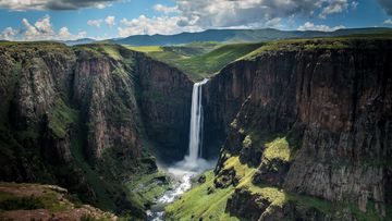 Maletsunyane Falls in Lesotho, a small nation within the borders of South Africa