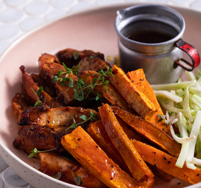 Youfoodz healthy meals Tuscan chicken and sweet potato chips