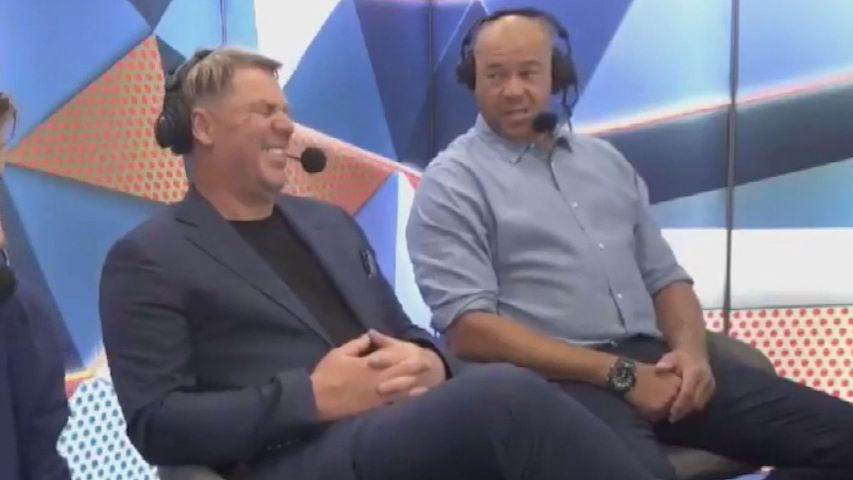 Shane Warne and Andrew Symonds on BBL commentary duties.