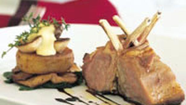 Lamb with garlic aioli and potato fondant