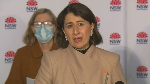 Premier Gladys Berejiklian was happy to see daily case numbers drop to 78.