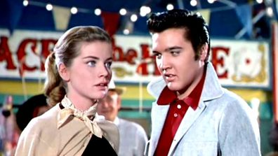 Dolores Hart and Elvis Presley star in the 1957 film Loving You.