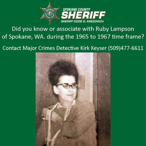 Ruby Lampson was last seen with a younger man.
