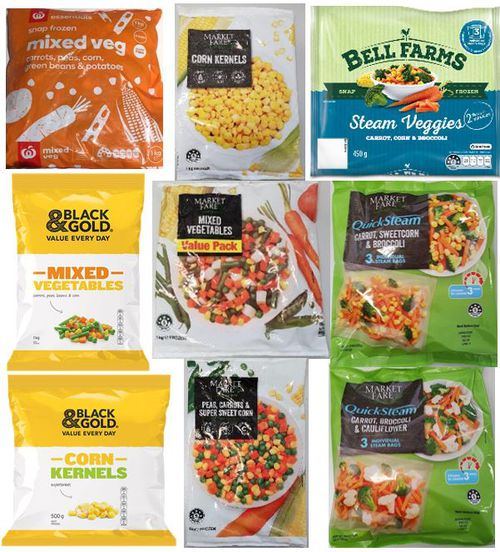 A range of frozen vegetable products have been pulled from Aussie shelves.