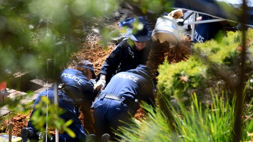 Police spent several days searching the former home of Chris and Lynette Dawson in September.