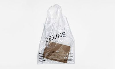 <p>Grocery shopping just got very pricey. </p> <p>Celine Plastic Shopper, $750 (not yet on sale).</p>