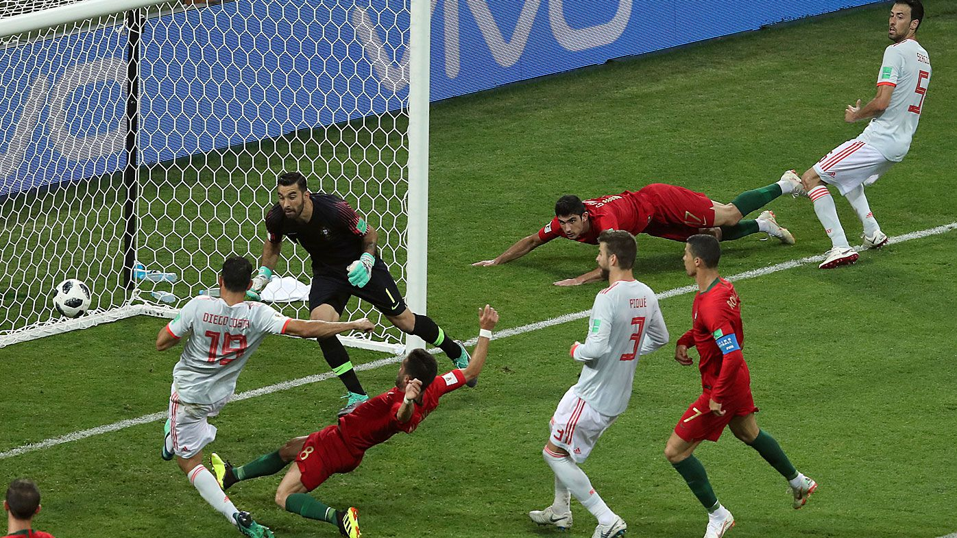 Spain's Diego Costa goal makes World Cup history as first awarded by VAR
