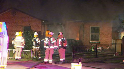 Fire crews worked quickly to extinguish the blaze. (9NEWS)