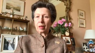 Princess Anne, Princess Royal opens the NHS Louisa Jordan Hospital in Glasgow via video link