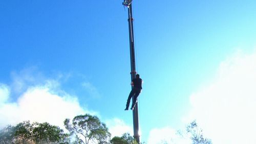 His drop from the crane was a truly heart-stopping moment. (9NEWS)