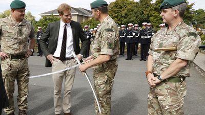 Prince Harry visits Royal Marines as Captain General, September 2018