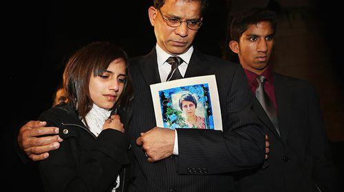 Jacinta Saldanha's daughter Lisha, husband Ben Barboza and son Junal.