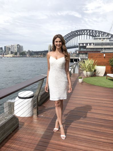 Sydney bride cuts up wedding dress to reuse as a mini dress