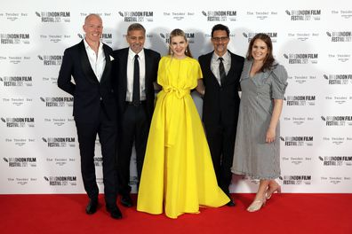 Chris Bird, George Clooney, Lily Rabe, Grant Heslov, BFI Festival Director, Tricia Tuttle