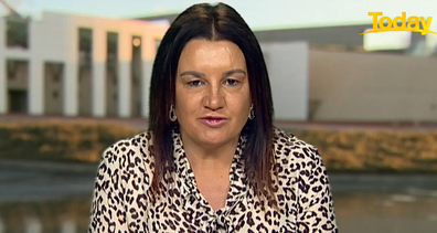 Ms Lambie delivered the news with a completely straight face.