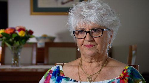 Phil Waesch's grieving widow, Sue.
