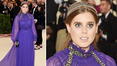 Princess Beatrice attends the Met Gala, May 2018