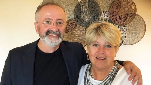 Ms Battel, with voluntary assisted dying advocate and TV presenter Andrew Denton.