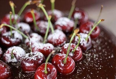 Velvety chocolate ganache