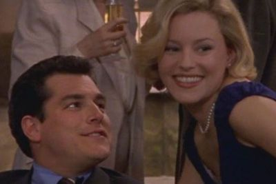 THEN: While her celeb cameo only lasted 15 seconds, Elizabeth Banks still made quite an impression on our <I>SATC</I> girls. <br/><br/>Mainly because she played the wife of a man Charlotte hit on at a party #awks
