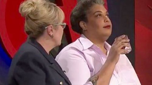 Roxanne Gay reacts to a comment from Teena McQueen.
