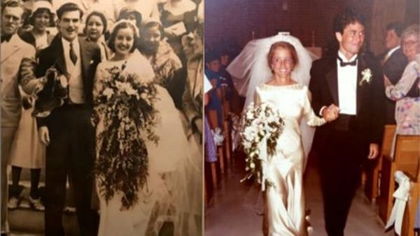 Wedding Dress Ped Down Through Four Generations