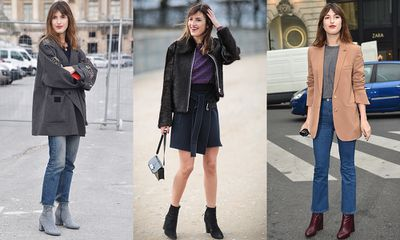 Ankle boots: The two-step trick to French girl style. Step 1: Buy ankle boots. Step 2: Put on ankle boots. <br> Could the <em>je ne sais quoi</em> code of French chic truly be this simple? According to It-girl and social media star, Jeanne Damas, (and 1960s Jane Birkin doppelganger) it is. Ideal for transitioning between seasons, the ankle boot adds a kick of gamine style to a simple jeans-and-oversized-jacket look. Pair with bare legs and an A-line mini dress to hit the season's mod notes or with the A/W16 street style staple – cropped and flared denim.