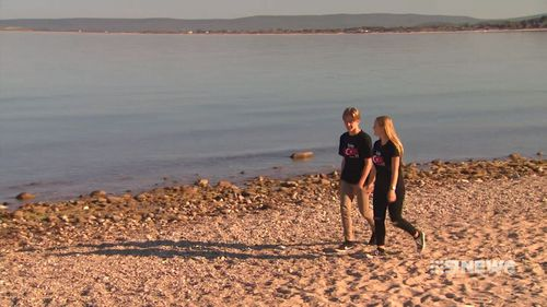 Classmates Will Stringer and Jasmine Lawry made the discovery while researching for their trip to Anzac Cove.  (9NEWS)
