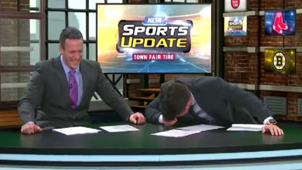 Sports reporters break down over 'All-Star' game
