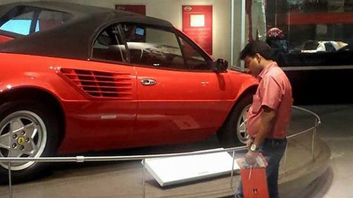 Shakiha had lived in Abu Dhabi for 14 years but never went inside Ferrari World until now. (Facebook)