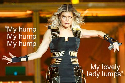 Thanks, Fergie, for giving us not just one but <i>two</i> new euphamisms for boobs.