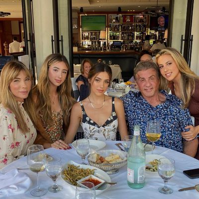 Jennifer Flavin, Scarlet Stallone, Sistine Stallone, Sylvester Stallone and Sophia Stallone: May 2021