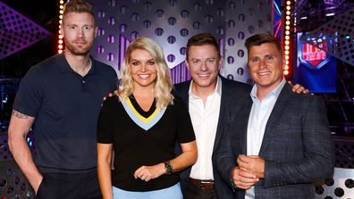 Australian Ninja Warrior 2020 hosts Freddie Flintoof, Rebecca Maddern, Ben Fordham, Shane Crawford
