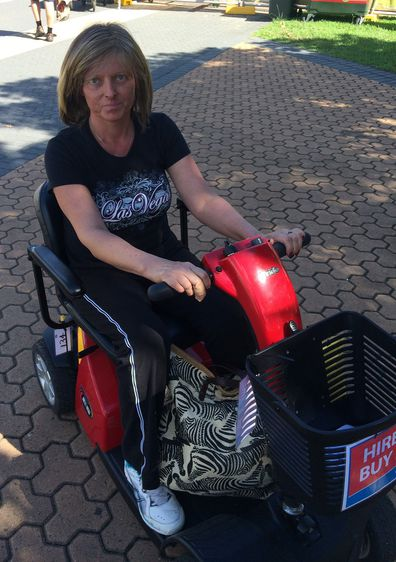 Jo on mobility scooter