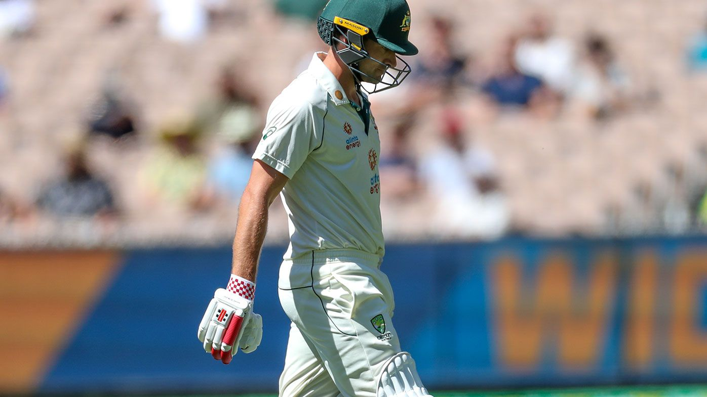 Joe Burns was dismissed for a duck against India at the MCG.