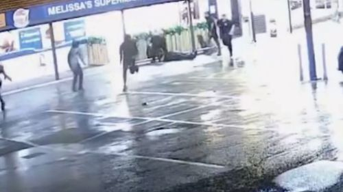 The 51-year-old father was hit outside his shop and suffered bleeding on the brain and a fractured jaw. Picture: 9NEWS