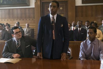 Josh Gad, Chadwick Boseman, Sterling K. Brown in Marshall