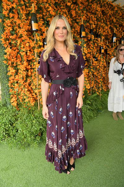Molly Sims arrives at the 9th Annual Veuve Clicquot Polo Classic event in Los Angeles, October 6, 2018