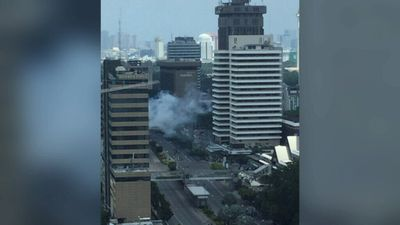 Smoke from the blast was visible from several blocks away. (Supplied)