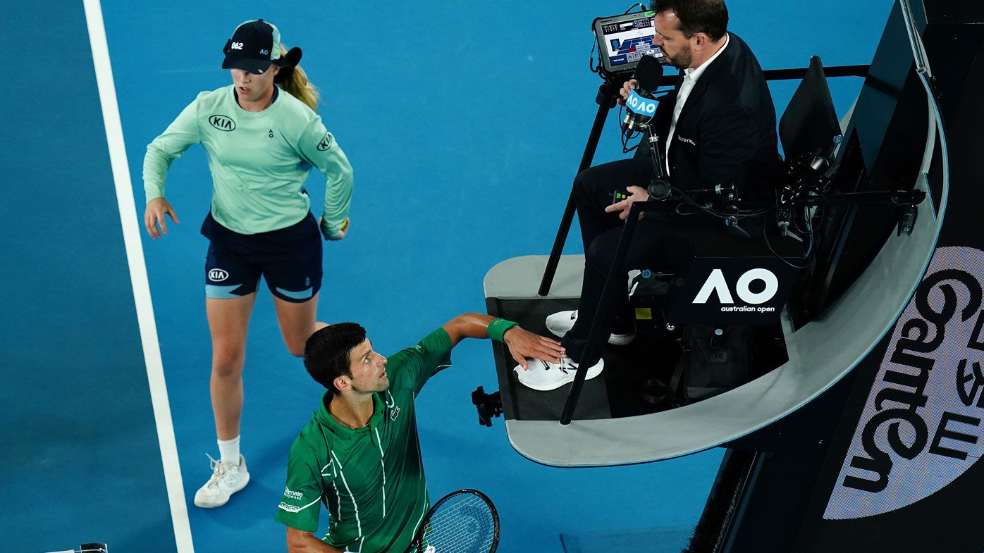 Novak Djokovic Touches Umpire Australian Open Final Video Winner Facing Fine