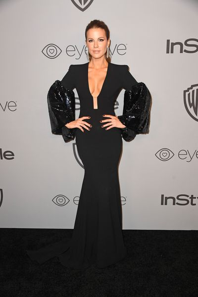 Actress Kate Beckinsale in Alex Perry