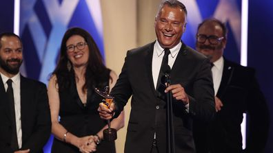 Stan Grant accepts the AACTA Award for Best Documentary during the 2019 AACTA Awards Presented by Foxtel at The Star on December 04, 2019
